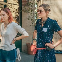Lady Bird creator Greta Gerwig says Saiorse Ronan's Lady Bird (left) isn't autobiographical.
