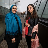 Ghadeer Darwish (left) and Suzan Marie (right) are two of 18 participants in the Immigrant Women Entrepreneur Showcase.