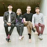 """Nick Everett (second from right) says touring is making Mauno learn """"to grow together."""""""