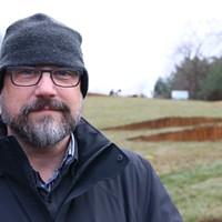 Designer John deWolf at Fort Needham Memorial Park.