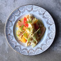 Silky raw albacore, clementine, grapefruit, endive and fennel.