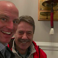 Councillor Matt Whitman (left) and his mentor, former MP Peter Stoffer, pictured last spring inside City Hall.