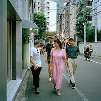 Walking in Shibuya.