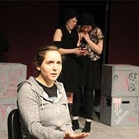 Joey (Alisa Galbreath) recounts her assault in SLUT.