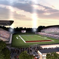A rendering of the refurbished stadium inside Landsdowne Park in Ottawa.