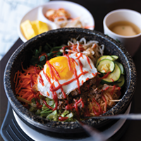 A dolsot bibimbap at Song's Korean Restaurant.