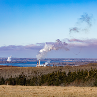 A coal power plant in Pictou County.