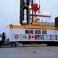 Big ol' beer box makes its way into town for the Seaport Cider & BeerFest.
