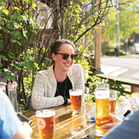 You can enjoy The Seahorse's custom-brewed Horsepower on The Local's patio.
