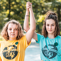 Willa Fisher (left) and Julia Sampson organized the first Fridays for Future strike.