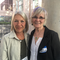 Barb Ewert (Left) and Susan Harvie (right) both have sons with autism, but they hope their co-housing development will change their quality of life.