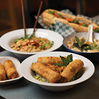 Dzung Do says her restaurant Just Spring Roll has given her a sense of creative freedom by showcasing Southeast Asian staples like spring rolls, pad thai, vietnamese soup and bahn mi.