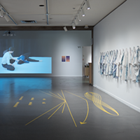 "Lou Sheppard, ""Crepuscular Rhythms"" and ""Pas de deux"" (installation view)."
