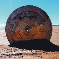 "Intertidal Cymbal Works, a place-responsive sound art and performance, sees Lindsay Dobbins research ""how traditional drums embody the environment they come from.""."