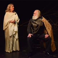 "Lee J. Campbell as Odysseus and Sherry Smith as Penelope in ""Chapter 3: The Great Teller of Tales"" by Sophie Jacome."