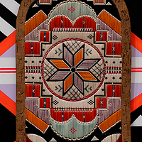 Jordan Bennett's 2019 Art Gallery of Nova Scotia showcase, Ketu' elmita'jik, paired quillwork objects with painted murals for a dizzying array of shapes and colours.