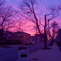 A pink sky for Nova Scotia on Monday April 20, just as neighbours were lighting candles on their front steps for their grief and for each other.