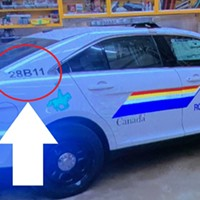 The mock RCMP car the gunman drove on April 18 and 19.