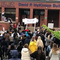 Hundreds protest Regis Korchinski-Paquet's death in Halifax