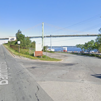 Right now, the only road leading to Africville is here, off busy North Barrington Street.