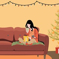 You might have to be alone by the tree this year, but there are ways to feel less lonely.