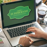 It only takes one green beer spilled on your laptop to shut down online St. Patrick's Day.