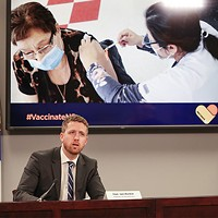 Premier Iain Rankin at Friday's provincial briefing, where it was announced that a Moderna shipment expected for next week won't be arriving on time. COMMUNICATIONS NOVA SCOTIA