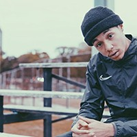 Kye Clayton, one of Halifax's hottest up-and-coming hip hop stars, performs at The Derby Showbar Friday. ANDREW RHODENIZER