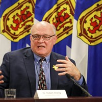 """If you have not yet booked yourself or for a loved one, please do so,"" urged Robert Strang at the April 1 COVID-19 briefing. COMMUNICATIONS NOVA SCOTIA"