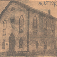 The African Methodist Episcopal Zion Church opened in 1846 on Gottingen Street. NS ARCHIVES