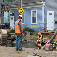 Agricola Street sinkhole caused by human activity