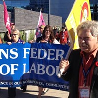 Rick Clarke was first elected president of the Nova Scotia Federation of Labour in 1989.