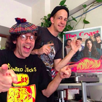 Finally a good reason to use this picture: Nardwuar, Robert Catherall and Monomyth on cover of The Coast at Vancouver's Mint Records last summer