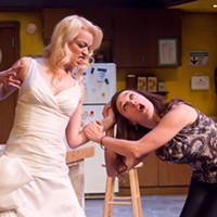 Maria Dinn as Mandy and Charlotte Gowdy as Dee in Stag and Doe.