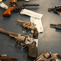 """Some """"crime guns"""" Halifax Regional Police have confiscated, waiting to be destroyed."""