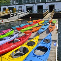 Get out on the water via watercraft rentals at the St. Mary's Boat Club.