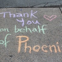 A random act of sidewalk chalk from Phoenix youth for Random Acts of Kindness Day.