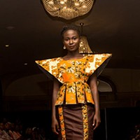 A look from Toria Aidoo's Kwestomar Kreations at last year's show.