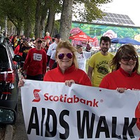 Participants at last September's AIDS Coalition of Nova Scotia's Walk for Life fundraiser.