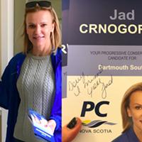 Jad Crnogorac campaigning last week.