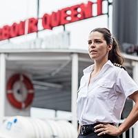 Captain Lise Portelance aboard the Harbour Queen.