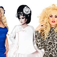 From left to right: Alaska, Kim Chi, Katya