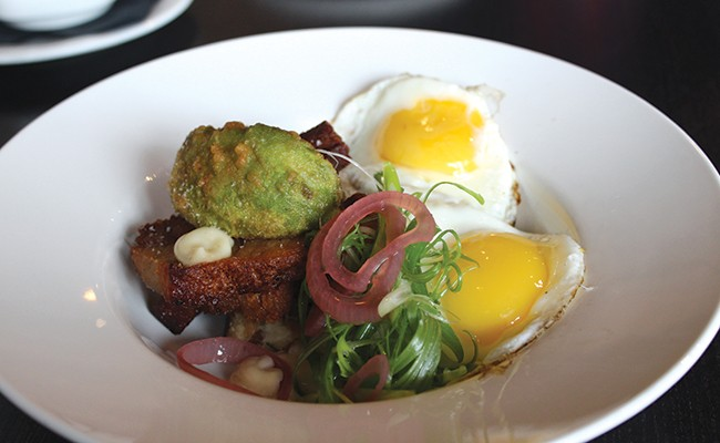 The savoury toast is a totally super brunch