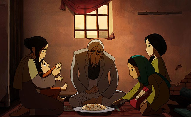 A scene from the Oscar-nominated adaptation of Ellis' The Breadwinner. - ELEVATION PICTURES
