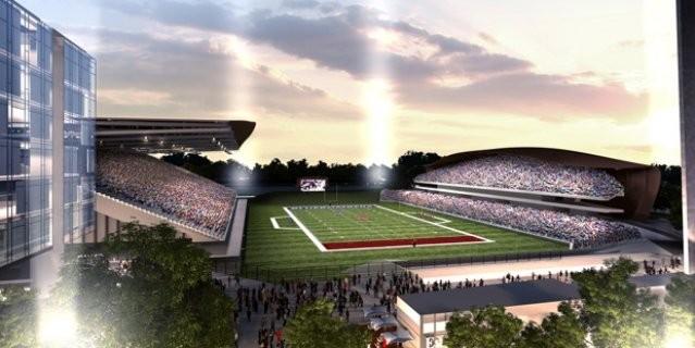A rendering of the refurbished stadium inside Landsdowne Park in Ottawa. - VIA CFL.CA
