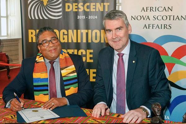 ANSA minister Tony Ince and premier Stephn McNeil. - VIA FACEBOOK