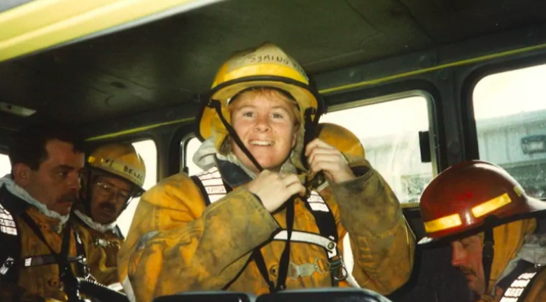 Symington joined the Halifax fire department in 1997. - SCREENSHOT FROM CBC NEWS