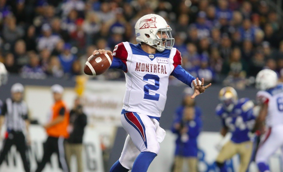 Alouettes' QB Johnny Manziel was placed in concussion protocol last summer. - VIA JASON HALSTEAD FOR CFL.CA