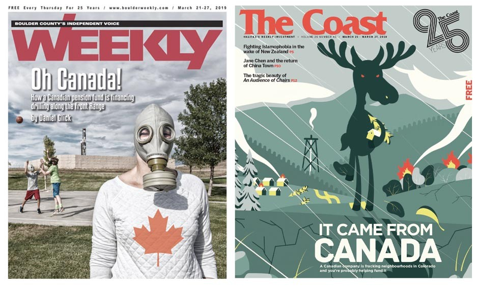 One subject, two different approaches to the cover at Boulder Weekly and The Coast.