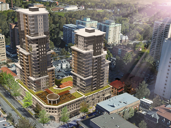 Two big side-by-side developments got approval from council in July for the corner of Robie Street and Spring Garden Road.